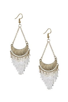 Seed Beads Tassel Earrings E3062