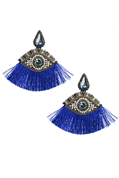 Devil Eye Tassel Earrings E3095