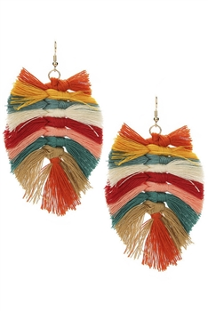 BraidTassel Earrings E3113