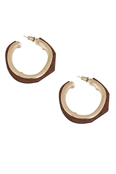 Wooden Hoop Earrings E3119