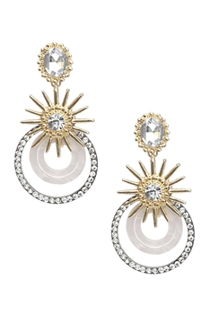 Rhinestone Circle Earrings E3194