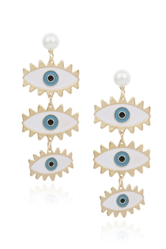 Against Evil Eye Drop Earrings E3227