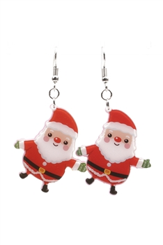 Acrylic Santa Earrings E3256