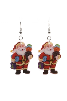 Santa Claus Acrylic Earrings E3257