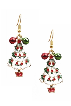 Christmas Tree Alloy Earrings E3261