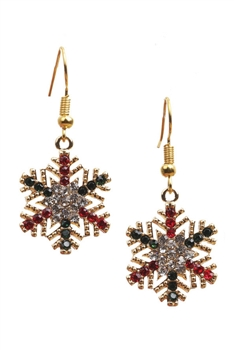 Snowflower Rhinestone Earrings E3262