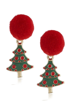 Christmas Tree Alloy Earrings E3264