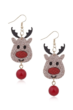 Christmas Elk Alloy Earrings E3303
