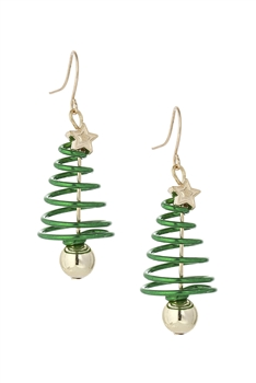 Christmas Tree Alloy Earrings E3305