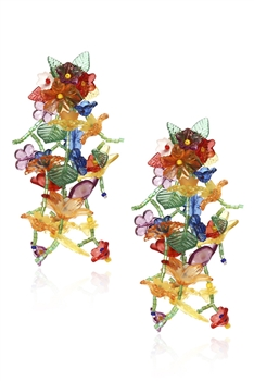 Seed Beads Floral Earrings E3315