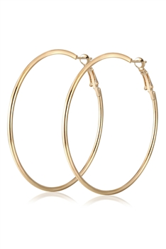 Alloy Hoop Earrings E3331 - Gold