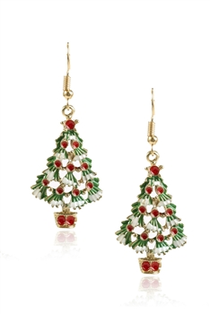 Christmas Tree Alloy Earrings E3333