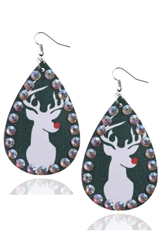 Christmas Style Pu Leather Earrings E3336 - NO.2
