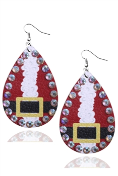 Christmas Style Pu Leather Earrings E3336 - NO.3