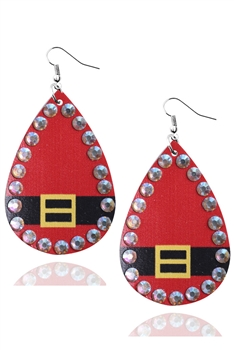 Christmas Style Pu Leather Earrings E3336 - NO.4
