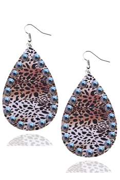 Christmas Style Pu Leather Earrings E3336 - NO.6
