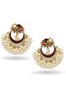 Peacock Pearl Tassel Earrings E3337