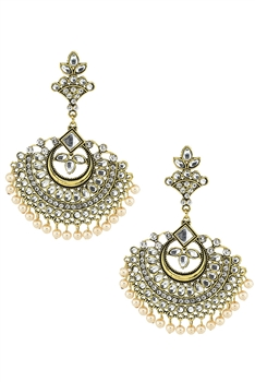 Gypsy Style Sector Alloy Earrings E3339 - Gold