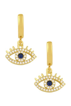 Zircon Against Evil Eyes Dangle Earrings E3347