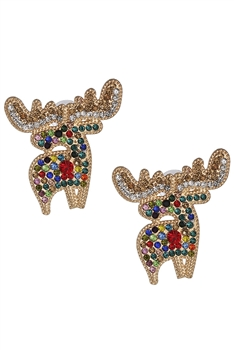 Elk Rhinestone Earrings E3368 - Multi
