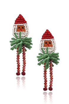 Christmas Seed Beads Tassel Earrings E3406