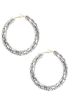Rhinestone Hoop Earrings E3424