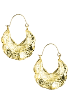 U-shaped Alloy Hoop Earrings E3426 - Gold