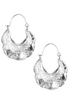 U-shaped Alloy Hoop Earrings E3426 - Silver