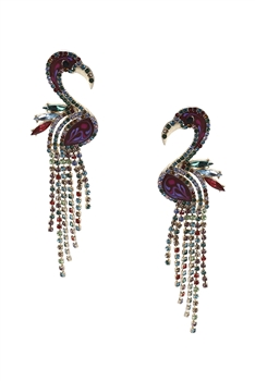 Flamingo Tassel Earrings E3476