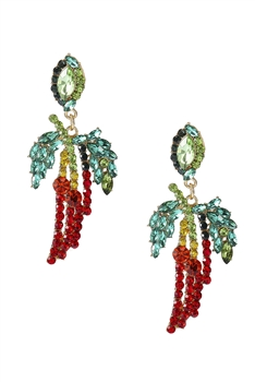 Rhinestone Geometry Earrings E3487