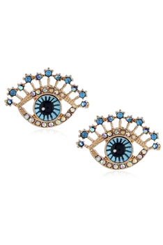Against Evil Eye Stud Earrings E3536