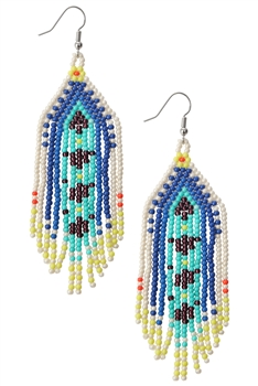 Bohemian Tassel Seed Beads Earrings E3603