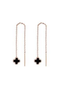 Stainless Steel Clover Chains Earrings E3673