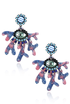 Against Evil Eye Acrylic Earrings E3681