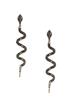 Rhinestone Snake Earrings E3683