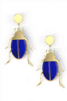 Ladybugs Acrylic Earrings E3806