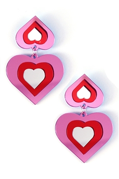 Heart Acrylic Earrings E3807