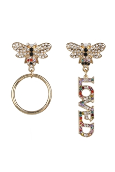 Bee Love Asymmetry Earrings E3877