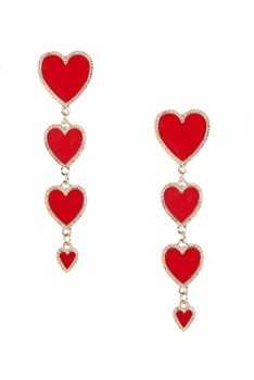 Heart Chain Alloy Earrings E3920