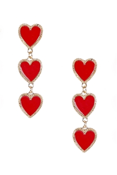 Heart Chain Alloy Earrings E3921