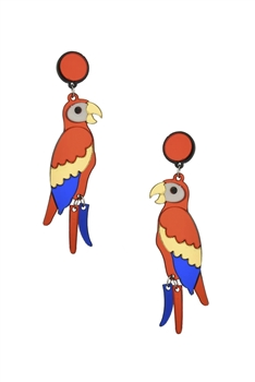 Parrot Acrylic Earrings E3930