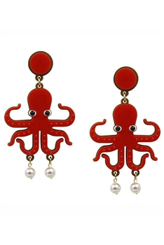 Octopus Acrylic Earrings E3934