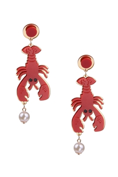 Lobster Acrylic Earrings E3935