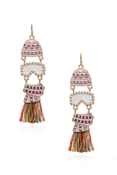 Hat Tassel Earrings E3985