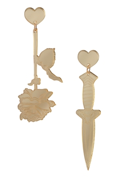 Rose Sword Acrylic Earrings E4023