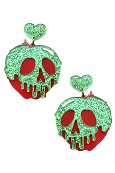 Skull Apple Acrylic Earrings E4026