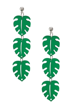 Leaf Chain Acrylic Earrings E4031