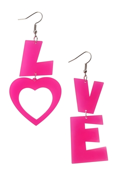 LOVE Acrylic Earrings E4032