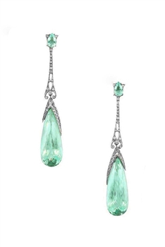 Teardrop Zircon Copper Earrings E4071