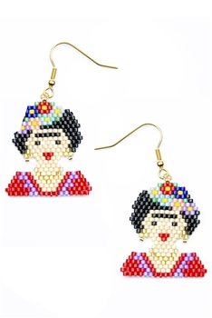 Firda Seed Beads Earrings E4080